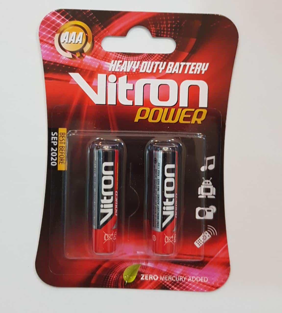 باتری نیم قلمی Vitron